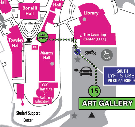 Campus Art AGallery Map
