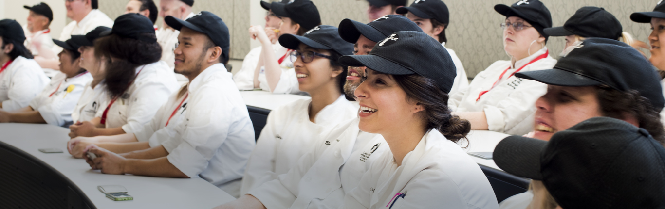 Last minute instructions for COC Culinary students. photo © Robin Spurs
