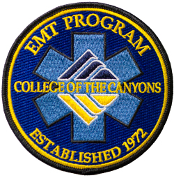 College of the Canyons EMT patch.