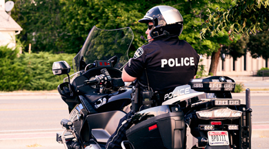 Uniform Police Officers in Formation