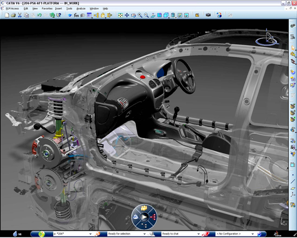 CATIA software.