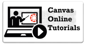 Canvas online tutorials button
