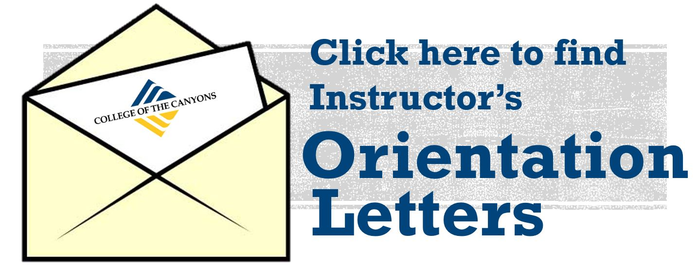click here for your instructor's orientation letter