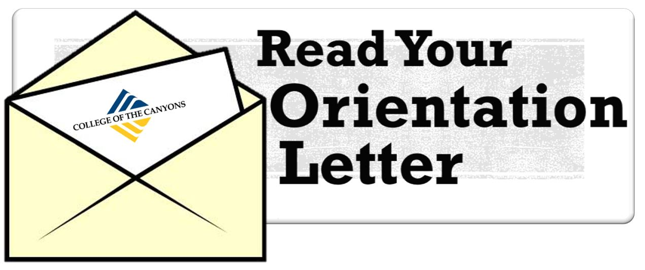 Read your orientation letter