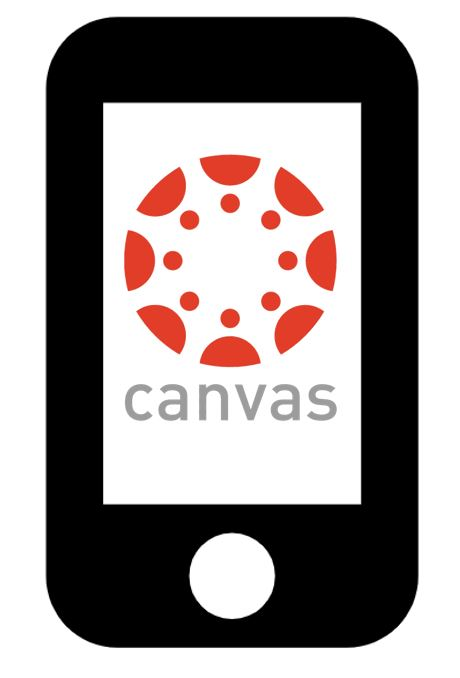 Cell phone with Canvas logo