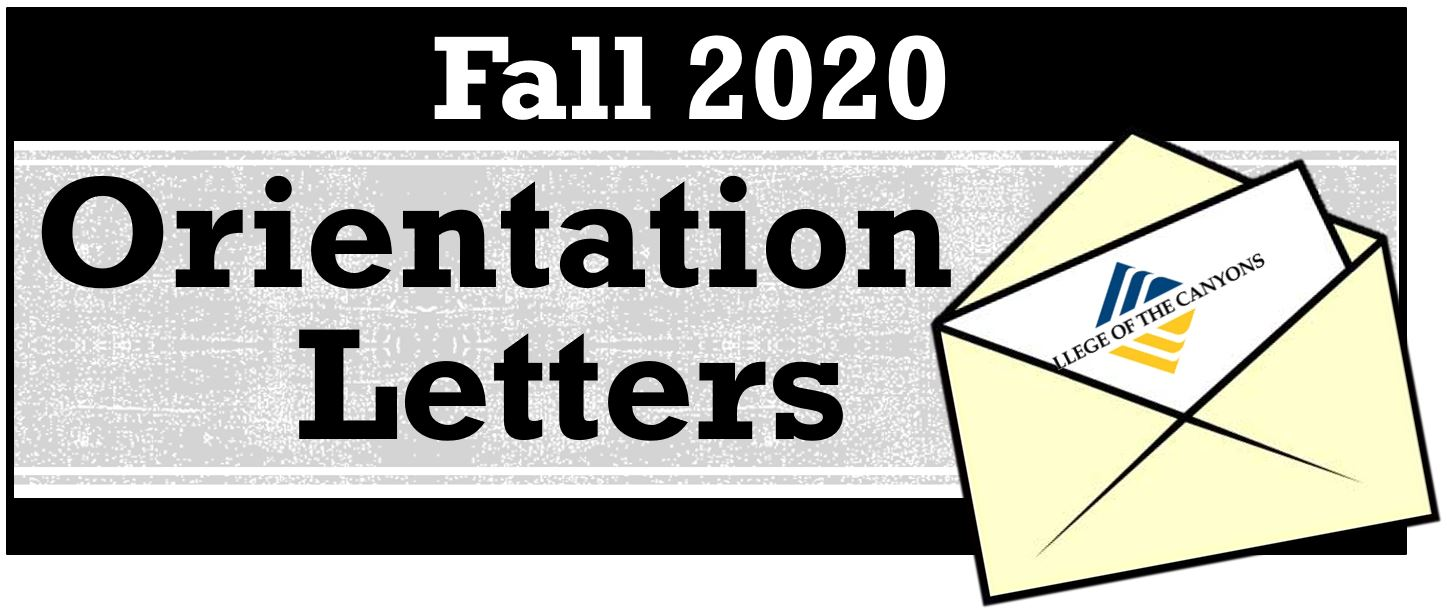 Fall Orientation Letters