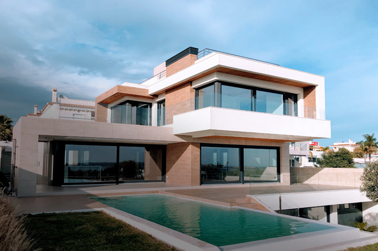 Uptown penthouse apartment in New York.