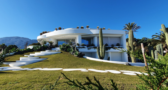 Beautiful home at evening.
