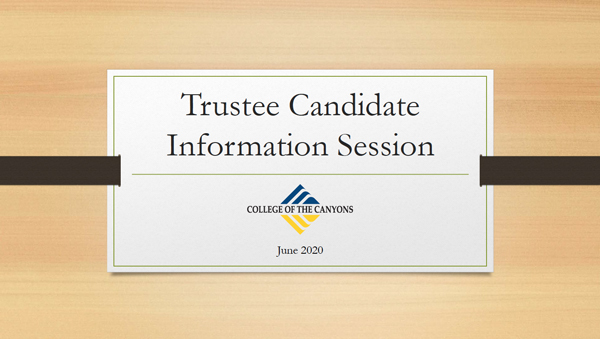 Cover of Candidate Information Session