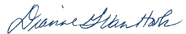 Dianne Van Hook Signature