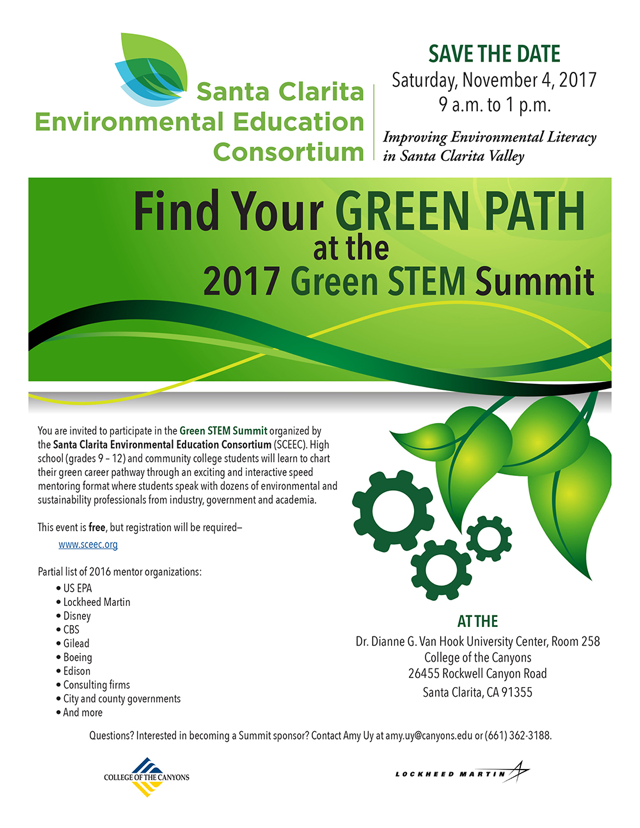 SCEEC Green STEM Save The Date 2017