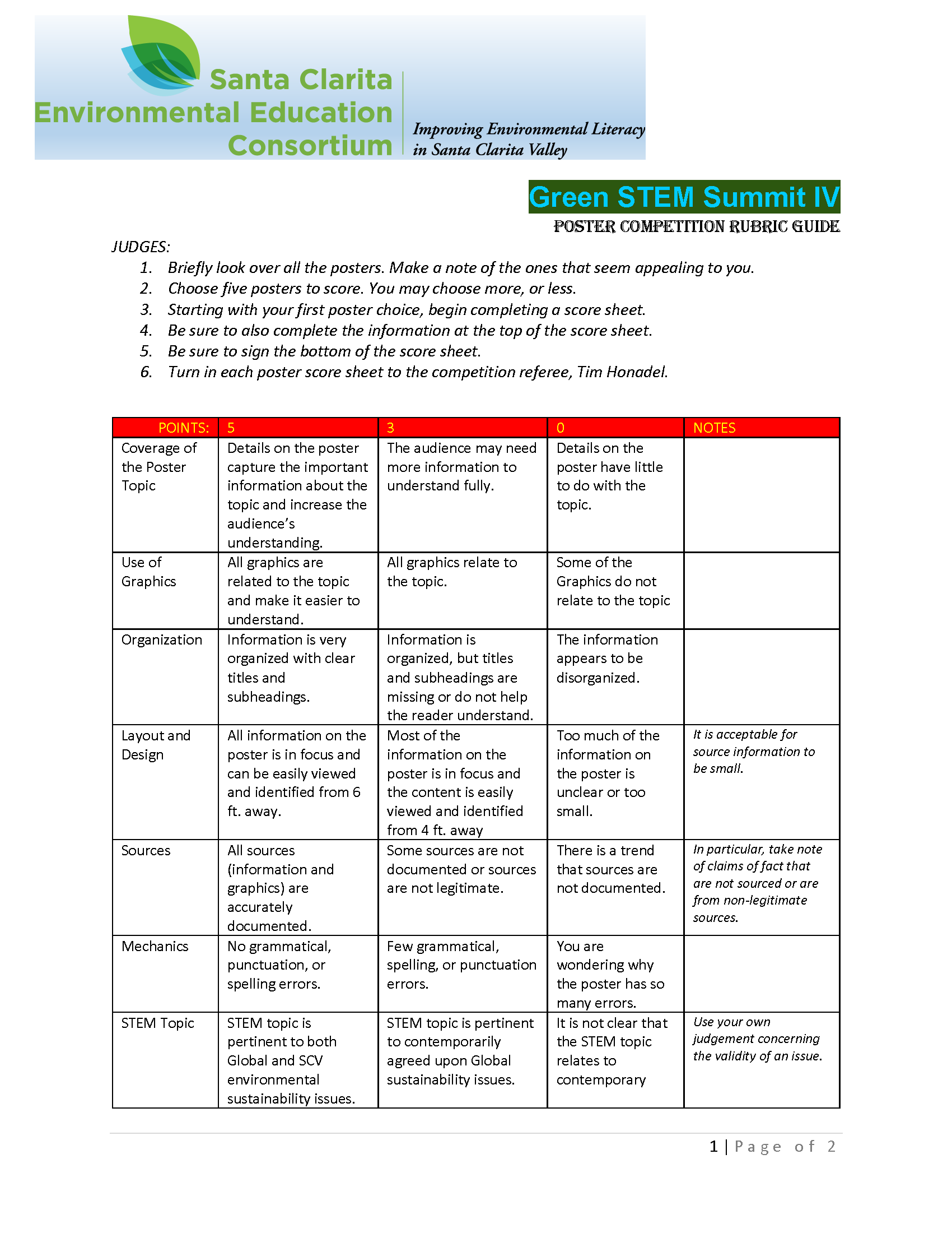 GSS Poster Score Rubric Page 1
