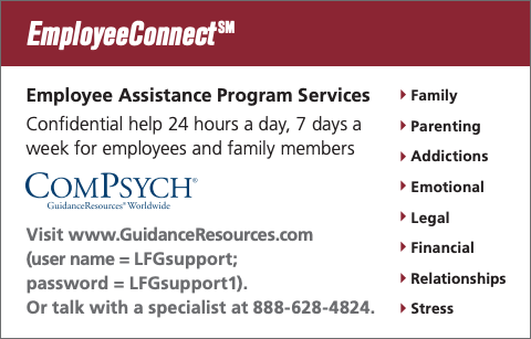 Employee Assistance information card