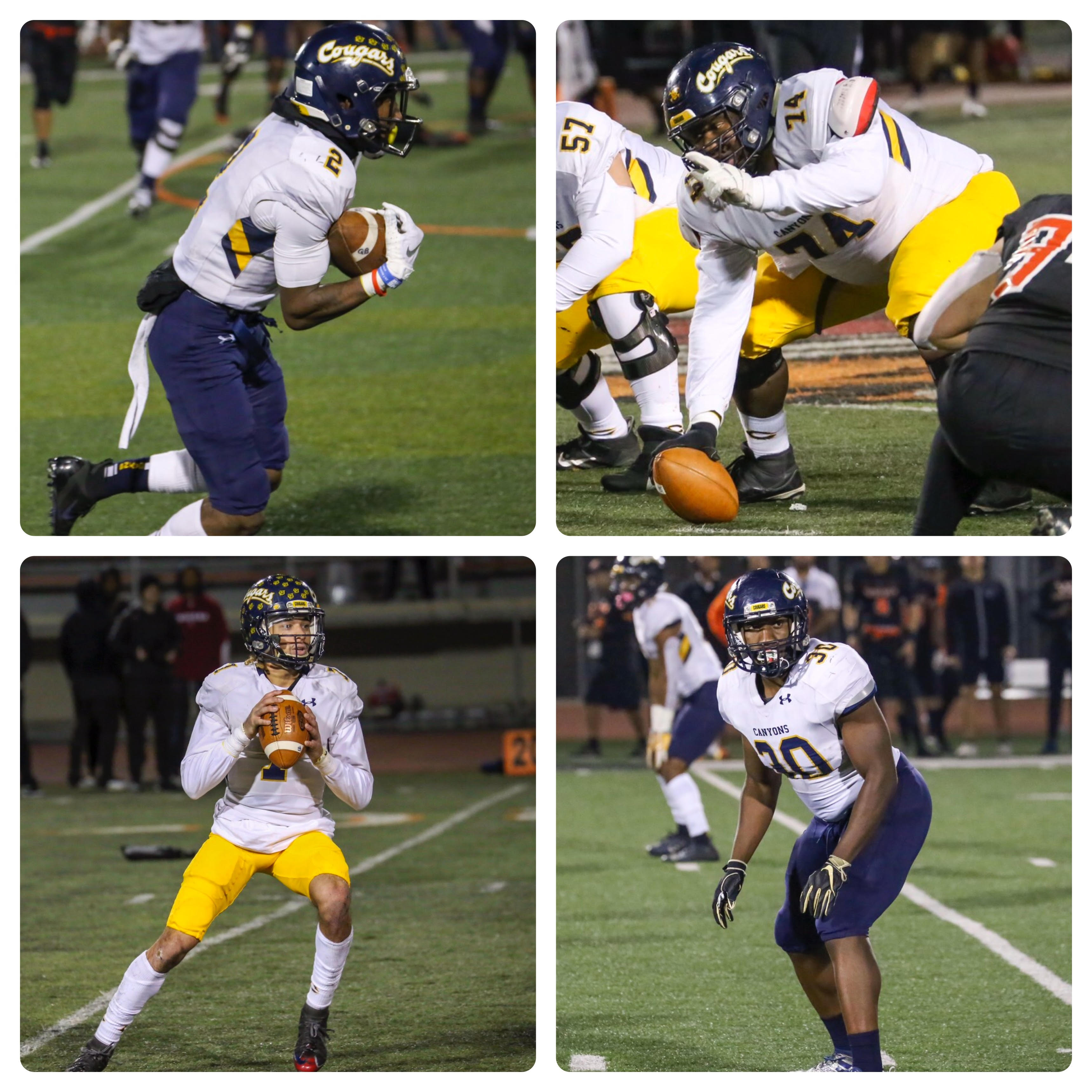 Wide receiver Alonzell Henderson and center Jordan Palmer are representing College of the Canyons as selections to the 2019 California Community College Football Coaches Association (CCCFCA) All-America Team, headlining a class of honorees that also includes four All-State Team selections.