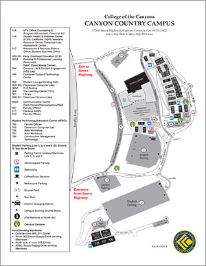 coc canyon country campus map Campus Maps coc canyon country campus map