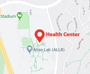 Map of health center at Valencia campus